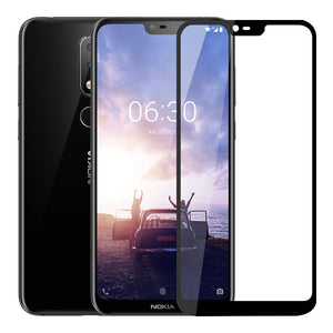 Full Tempered Glass Screen Protector For Nokia 4.2 3.2 8.1 7.1 6.1 5.1 3.1 2.1 7 Plus 1 2 3 5 6 8 9 PureView X5 X6 X7 2018  Full Coverage Screen Protector