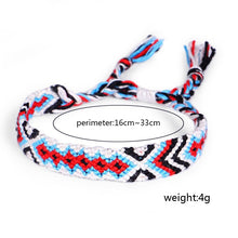 Load image into Gallery viewer, 2-4Pcs Colorful Nepal Style Woven Friendship Bracelets