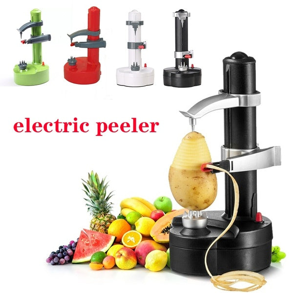 2019 4 Colors Electric Automatic Fruit Apple Pear Potato Peeler Cutter Slicer Kitchen Utensil