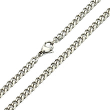 Load image into Gallery viewer, 7 MM 16-30 Fashion Punk Hiphop Rock Mens Jewelry Stainless Steel Silver Curb Cuban Chain Necklace Charm Cool Jewelry