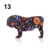 Load image into Gallery viewer, Bulldog Shepherd Dog Lapel Pins Cute Animal Acrylic Brooches Jewelry