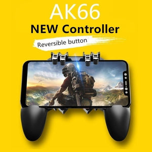 AK66 Six Finger All-in-One Mobile Game Controller  Key Button Joystick Gamepad L1 R1 Trigger
