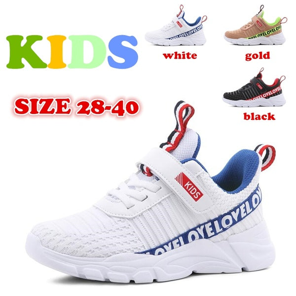 Fashion Kids' Shoes Children Non-slip Sneakers Mesh Breathable Sports Running Shoes