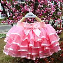 Load image into Gallery viewer, 2-10 Years Kids Girls Summer Fashion Rose Color Layered Mini Tulle Tutu Skirt for Casual Birthday Ballet Dance Wear