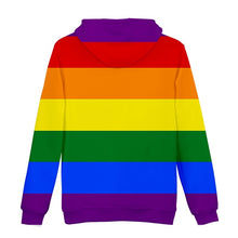 Load image into Gallery viewer, LGBT Rainbow Flag Lesbians Gays 3d Hoodies Pullover Fashion Men Women Hoodie Hoody Casual Long Sleeve 3D Hooded Sweatshirts Tops