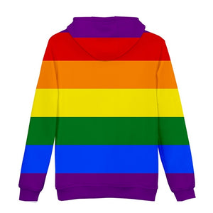 LGBT Rainbow Flag Lesbians Gays 3d Hoodies Pullover Fashion Men Women Hoodie Hoody Casual Long Sleeve 3D Hooded Sweatshirts Tops