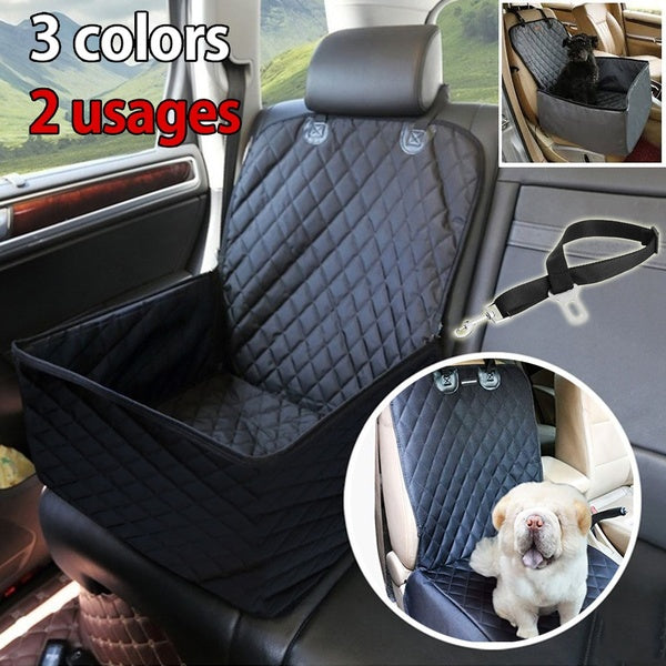 Foldable Comfortable Multifunctional Dog Car Seat Covers  for Cars Trucks And Suv Waterproof Non-slip Protector For Pets