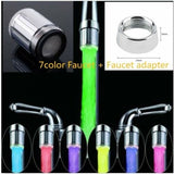 7 Colors LED Light Water Glow Faucet Tap+ Diverter Valve Adapter