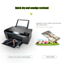 Load image into Gallery viewer, 100 Sheets 4R Glossy Photo Paper 4*6 Inch Waterproof Resistant High Gloss Finish Surface Quick Dry for Canon Epson HP Color Inkjet Printer