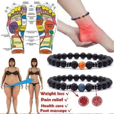 1 Piece Magnetic Therapy Vasculitis Treatment Improve Blood Circulation Bracelet Pain Relief Marble Bracelet Health Care