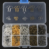 1 Box DIY Handmade Earring Jewelry Accessories Earring Component Include Ear Hook Ear Wire Earring Loop