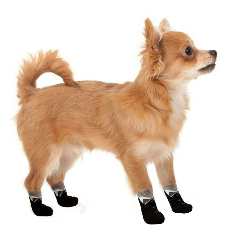 Dog Supplies Puppy Knitted Non-Slip Pet Shoes Paw Print Dog Socks