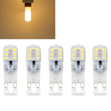 Load image into Gallery viewer, 5/10pcs Dimmable G9 3W/5W Silicone Crystal LED Corn Bulb SpotLight White Lamp AC 220V