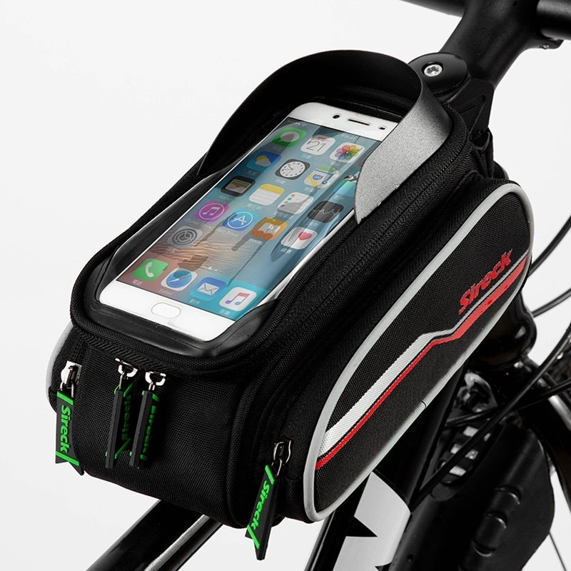 Sireck 6.5' Touch Screen Phone Holder Cycling Bag Reflective Bicycle Front Tube Frame Bag Bike Accessories For iPhone XS Max 8s/7/6s/6 Plus, Samsung Note 9