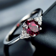 Load image into Gallery viewer, Women Dainty 925 silver  Red Gemstone Rubine Diamond Rings Wedding Engagement Party Ring Jewelry