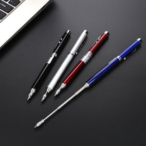 6 In 1 Multifunctional Pen Touch Screen&Writing Extendable Teaching Pen With Powerful Flash Light&Laser Pointer