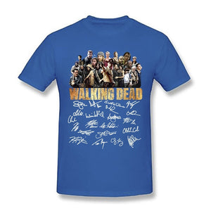 The Walking Dead Signature Lovers T Shirt Black Cotton Men and Women