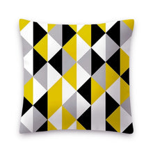 Load image into Gallery viewer, 1 PC Yellow Polyester Pillowcase  Nordic Style Geometric Throw Pillow Cover sofa car cushion cover Home Decor 18x18 Inch