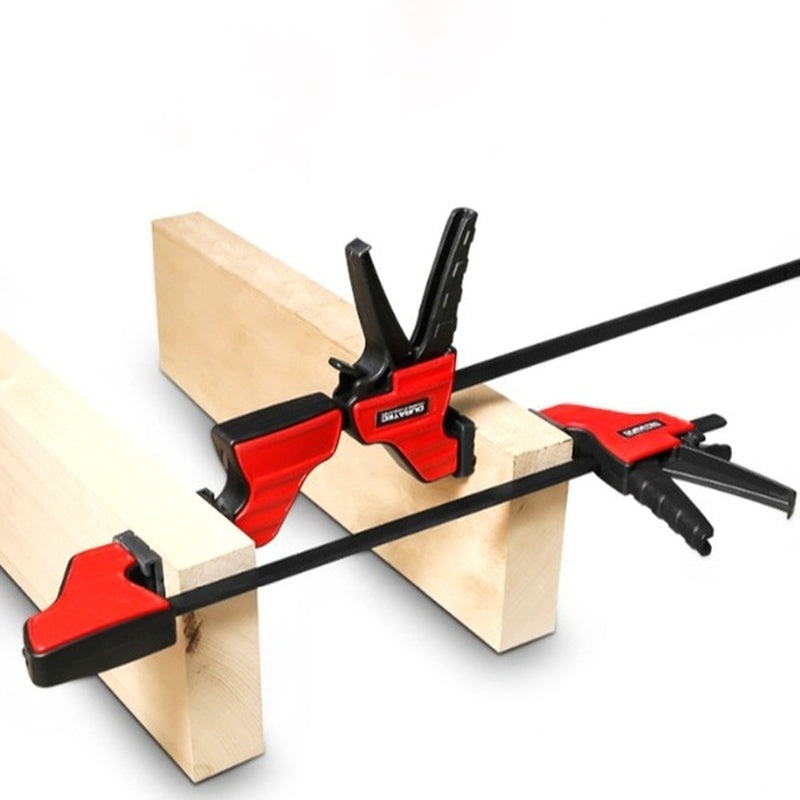 4 Inches Duratec Heavy Duty F Clamp Woodworking Quick Grip F Style Bar with Plastic Grip Wood Clamp