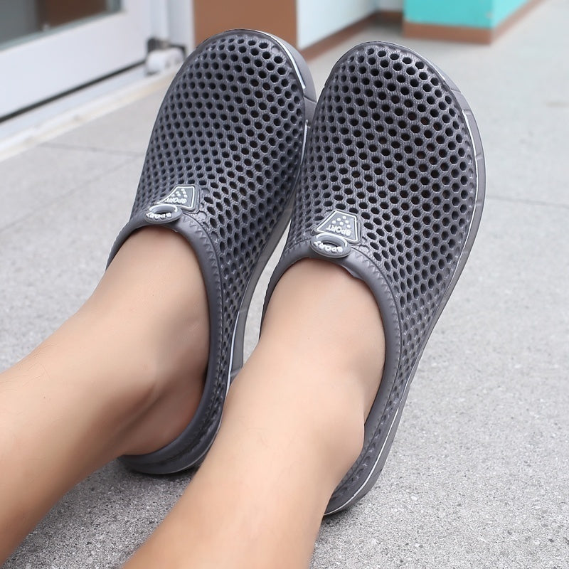 Summer couples indoor/outdoor slippers beach shoes garden slippers hollow-out shoes