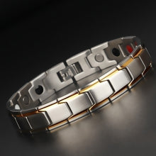 Load image into Gallery viewer, Men Women Bio Healthy Titanium Steel  Magnetic Therapy Energy Bracelet