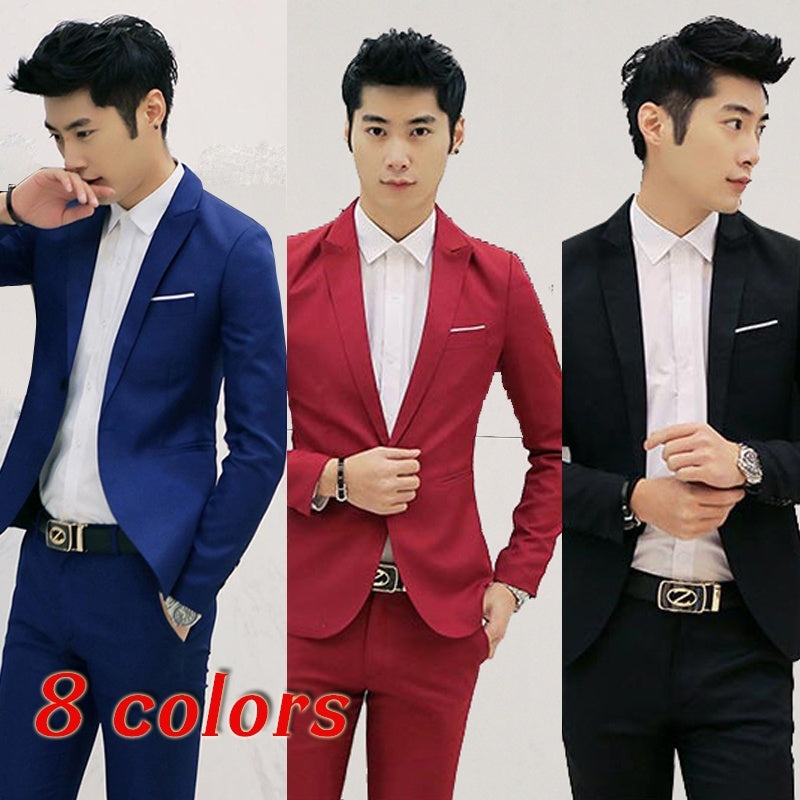 Spring 2018 Business Casual, Men's Wedding Dress, 8 Colors Coat