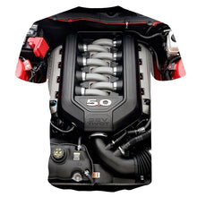 Load image into Gallery viewer, (XS-5XL)new ford mustang engine 3D T-shirt O-neck popular mens popular short sleeve tshirt Lively