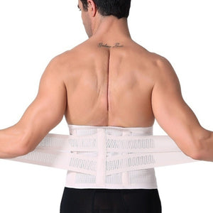 WAIST SECRET Men's Waist Trainer Massage Modeling Strap Men Slimming Body Fitness Shaper Belt