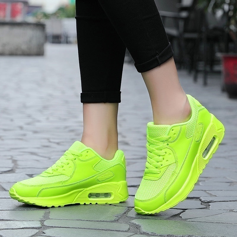 Women's Fashion Air Cushion Running Shoes Casual Sneakers Lightweight Breathable Mesh Fabric Shoes Casual Sneakers