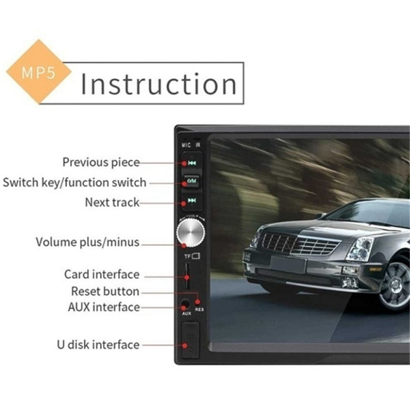 7inch Touch Screen Car Radio HD 1080p Bluetooth Mirror Link Remote Control 2 Din Car Stereo Radio Digital Car MP5 Player