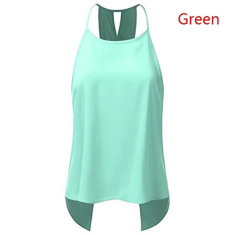 Summer Plus Size Women Sleeveless Tops Sexy Solid Color Tank Tops Ladies Fashion Backless Loose Cotton T Shirt Blouse Casual Tops