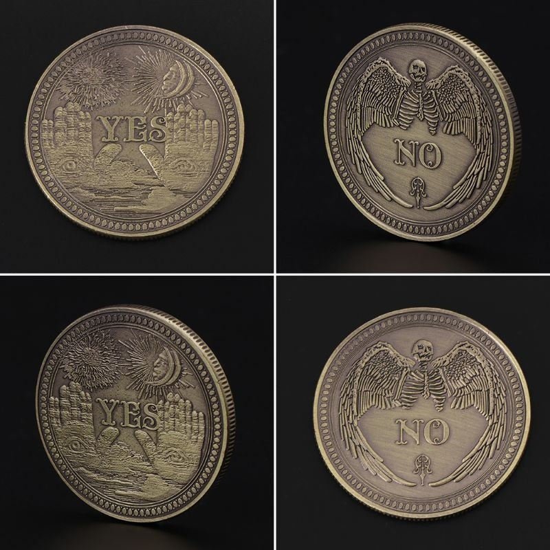 Bronze Yes No Commemorative Coin Souvenir Challenge Collectible Coins Collection Art Craft Gift