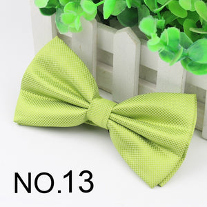 Hot Selling Formal Plaid Bow Ties Mens Solid Color Fashion Marriage Wedding Party Bow Ties