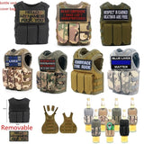 Party holiday diy decoration wine bottle cover bag Pouches Military Mini Miniature Vest Personal Bottle Drink Set Adjustable Shoulder Strap Drink Tactical Beer Bottle Cover event party Accessory beer bottle Mini vest tactical patch