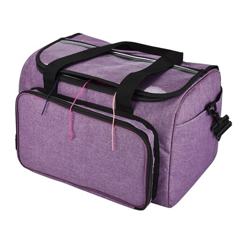 Fashion Large Capacity 600D Oxford Cloth Wool Knitting Yarn Needle Storage Bag Organizer(without Wool)