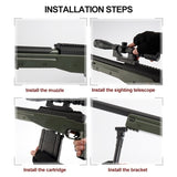 Crystal Bullets +8 Times/15 Times Magnifier Christmas Gift Manual Toy Gun AWM Sniper Rifle Safety Painless Water Bullet Gun Simulation Musket Gun