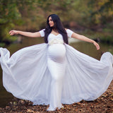 New Pregnant Party Dress Pregnant Woman Photo Shoot Cloak Dress Long Dress Maxi Dress Maternity Dress Photo Wedding Dress