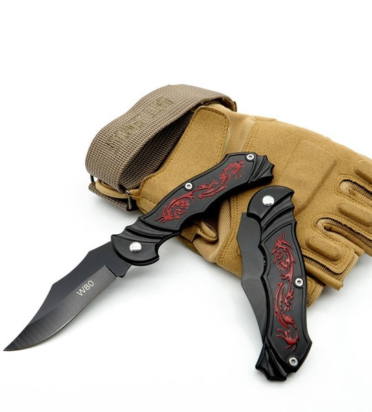 Outdoor Tactical Folding Blade Stainless Steel Camping Blade Fruit  Blade