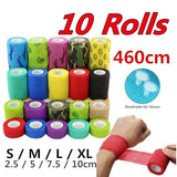 10 Rolls/Set Waterproof Elastic Self-Adhering Bandage Adhesive First Aid Tape Health Care Fitness Sport