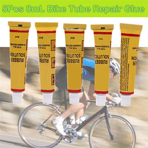 5 Pcs Road Mountain Bike Tyre Inner Tube Puncture Repair Cement Rubber Cold Patch Glue
