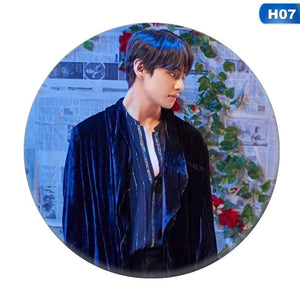 2Pcs Kpop Bts Bangtan Boys Badge Suga Jimin Jung Kook Chest Pin Brooch Jewelry Fashion 2019