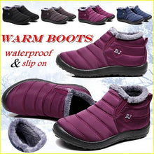 Load image into Gallery viewer, Women Winter Thicken Warm Boots Wool Cotton Shoes Ankle Boots Waterproof Bottes De Neige Size 35-43