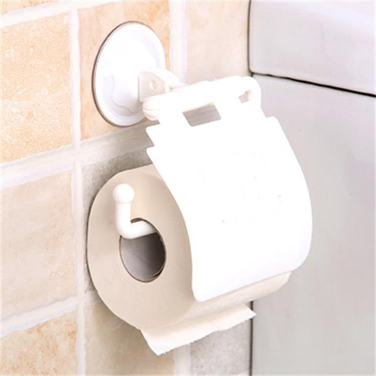 Toilet Bathroom Wall Mounted Roll Paper Holder Fashion Tissue Cover Storage Box Accessory