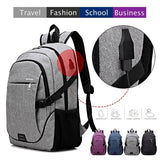 Outdoor Backpack USB Charging Shoulder Bag Oxford Laptop Backpack Traveling Backpack School Bag Rucksack for 15.6 Inch Laptop
