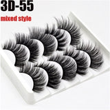 5 Different Styles 3D Handmade Mink Lashes False Eyelashes Soft and Comfortable Stereoscopic Multilayer Lashes Eyelash Extension Tool