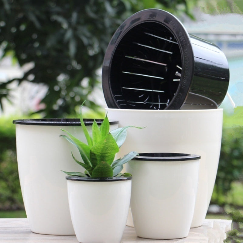 1pcs Home Garden Accessory  Automatic Watering Flower Pots Self-watering Container Flower Pot