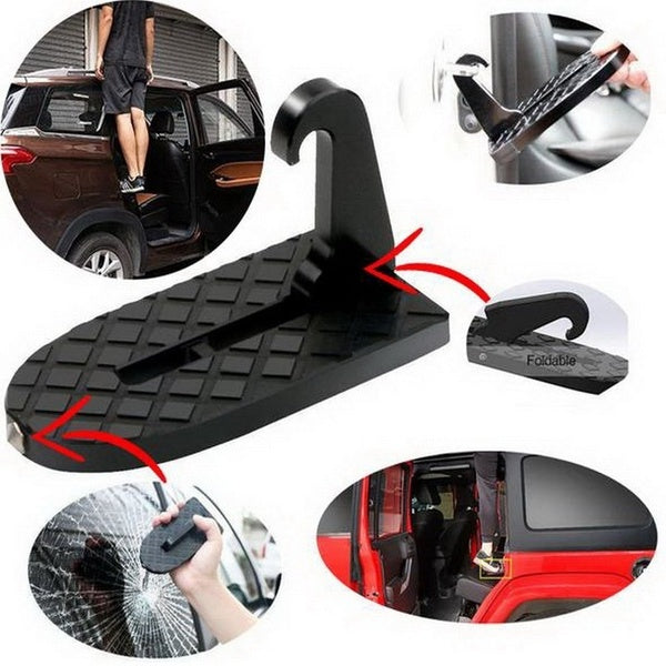 Folding Car Door Step Latch Hook Foot Pedal Ladder Mini Vehicle Doorstep GO