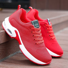 Load image into Gallery viewer, Women Air Cushion Running Shoes Sports Tennis Shoes Breathable Lightweight Sneakers Comfortable Mesh Flying Woven Shoes