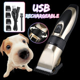 7/11PCS Electric Pet Hair Trimmer Set Pet Shaver Set Rechargeable Dog Cat Hair Shaver Low-noise Razor Grooming Fur Clippers