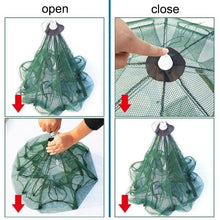 Load image into Gallery viewer, 6 Holes/8 Holes Automatic Fishing Net Shrimp Cage Nylon Foldable Crab Fish Trap Cast